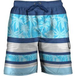 Newport Blue Mens Totes Striped Swim Trunks