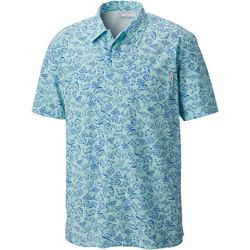 Columbia Mens PFG Trollers Best Tropical Fish Print Shirt