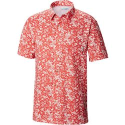 Columbia Mens Super Slack Tide Tropical Print Camp Shirt