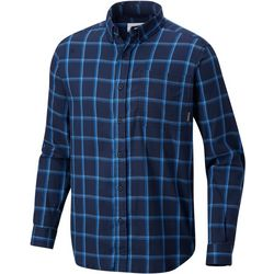 Columbia Mens Out and Back II Windowpane Plaid Shirt