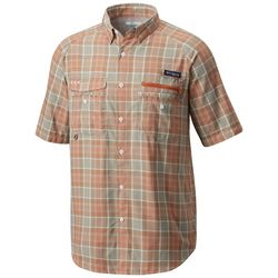 Columbia Mens Flycaster Plaid Short Sleeve Shirt