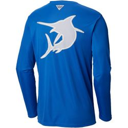 Columbia Mens PFG Fish Series 2 Terminal Tackle Marlin Shirt
