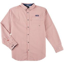 Columbia Mens Super Harborside Gingham Long Sleeve Shirt