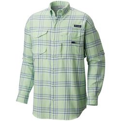 Columbia Mens Bonehead Plaid Flannel Long Sleeve Shirt