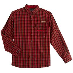 Columbia Mens Super Sharptail Gingham Long Sleeve  Shirt