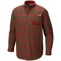 Columbia Mens Sharptail Tartan Plaid Long Sleeve Shirt