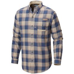 Columbia Mens Sharptail Plaid Flannel Long Sleeve Shirt
