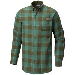 Columbia Mens Sharptail Plaid Flannel Shirt