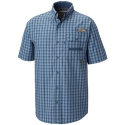 Columbia Mens Super Sharptail Plaid Short Sleeve Shirt