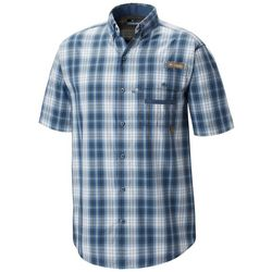 Columbia Mens Super Sharptail Plaid Print Short Sleeve Shirt