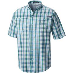 Columbia Mens PFG Super Tamiami Plaid Short Sleeve Shirt