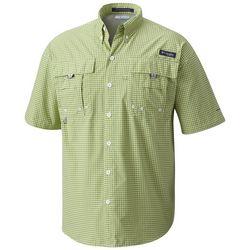 Columbia Mens Super Bahama Plaid Short Sleeve Shirt