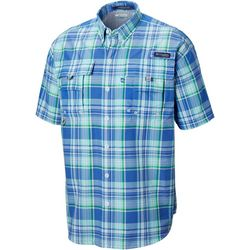 Columbia Mens PFG Super Bahama Large Plaid Shirt