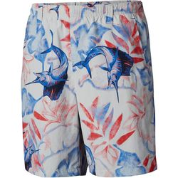 Columbia Mens Super Backcast Marlin Print Swim Shorts