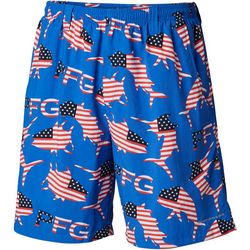 Columbia Mens PFG Super Backcast Merica Fish Swim Shorts