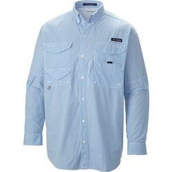 Columbia Mens PFG Super Bonehead Classic Check Plaid Shirt