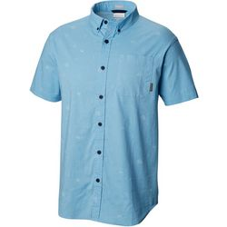 Columbia Mens Rapid Rivers Campfetti Short Sleeve Shirt