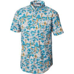 Columbia Mens Rapid Rivers Beach Convo Short Sleeve Shirt