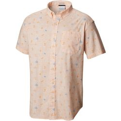 Columbia Mens Rapid Rivers Campfetti Button Down Shirt