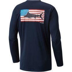 Columbia Mens Terminal Tackle PFG Flag Fish T-Shirt