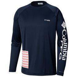 Columbia Mens Terminal Tackle PFG Flag Crew T-Shirt
