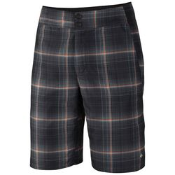Columbia Mens Red Bluff Plaid Shorts