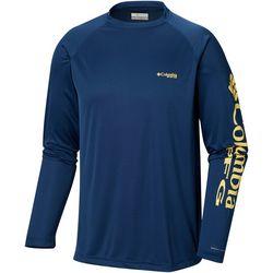 Columbia Mens PFG Terminal Tackle Raglan Long Sleeve T-Shirt