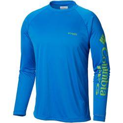 Columbia Mens PFG Terminal Tackle Long Sleeve Logo T-Shirt