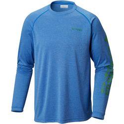 Columbia Mens Terminal Tackle Heather Long Sleeve T-Shirt