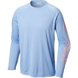 Columbia Mens Terminal Tackle Heathered Long Sleeve T-Shirt