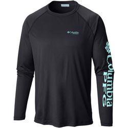 Columbia Mens Big Terminal Tackle Raglan Long Sleeve T-Shirt