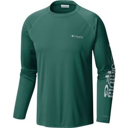 Columbia Mens Big Terminal Tackle Logo Long Sleeve T-Shirt