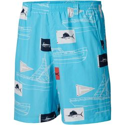 Columbia Mens Super Backcast Boat Flag Swim Shorts