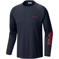 Columbia Mens Tall Terminal Tackle Logos Long Sleeve T-Shirt
