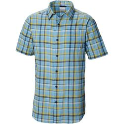 Columbia Mens Under Exposure Plaid Yarn-Dye Shirt