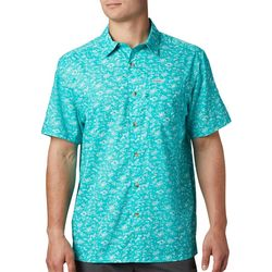 Columbia Mens Super Slack Tide Gamefish Print Camp Shirt