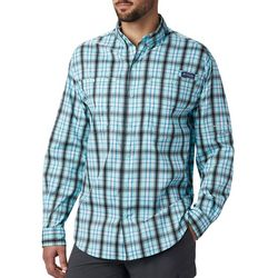 Columbia Mens PFG Super Tamiami Plaid Button Down Shirt