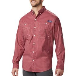 Columbia Mens PFG Super Tamiami Windowpane Shirt
