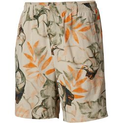 Columbia Mens Super Backcast Fossil Palm Swim Shorts