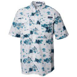 Columbia Mens Super Bonehead Reeds N Tarpon Print Shirt