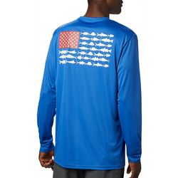 Columbia Mens PFG Terminal Tackle Fish Flag T-Shirt