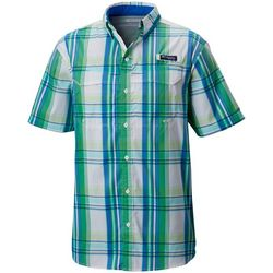 Columbia Mens Super Low Drag Plaid Short Sleeve Shirt
