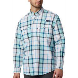 Columbia Mens PFG Super Bahama Plaid Long Sleeve Shirt
