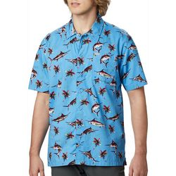 Columbia Mens PFG Trollers Best Watery Fish Print Shirt