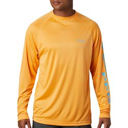 Columbia Mens Big Terminal Tackle Long Sleeve Crew T-Shirt