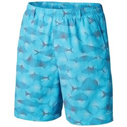 Columbia Mens Super Backcast Fish Print Swim Shorts