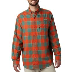Columbia Mens PFG Sharptail Flannel Print Long Sleeve Shirt