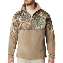 Columbia Mens PHG Camo Fleece Overlay Pullover