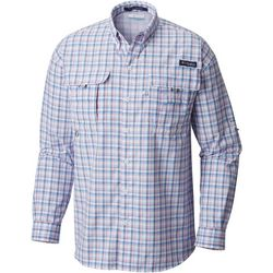 Columbia Mens Super Bahama Plaid Long Sleeve Shirt