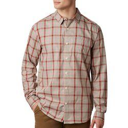 Columbia Mens Vapor Ridge Plaid Print Long Sleeve Shirt